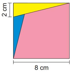 OBMEP 2019 O quadrado abaixo está dividido em dois triângulos e um quadrilátero