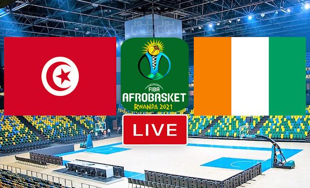 Match De Basketball: Tunisie vs Cote d'Ivoire Finale De AfroBasket 2021 FIBA Africa
