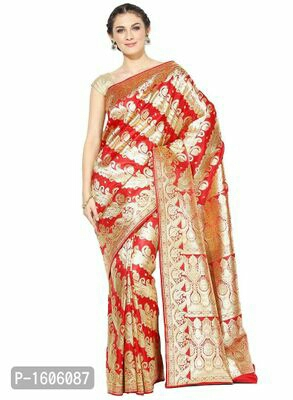 Red Woven Banarasi Silk Saree  Rs:2549/-