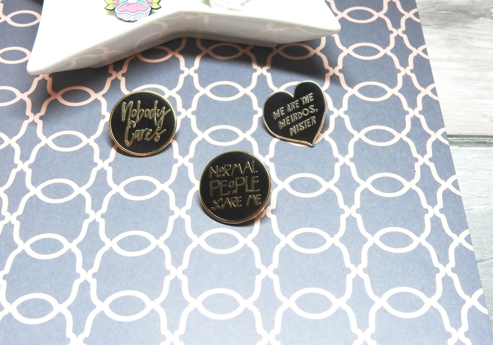 From Sarah Lex: Enamel Pin Collection featuring Punky Pins