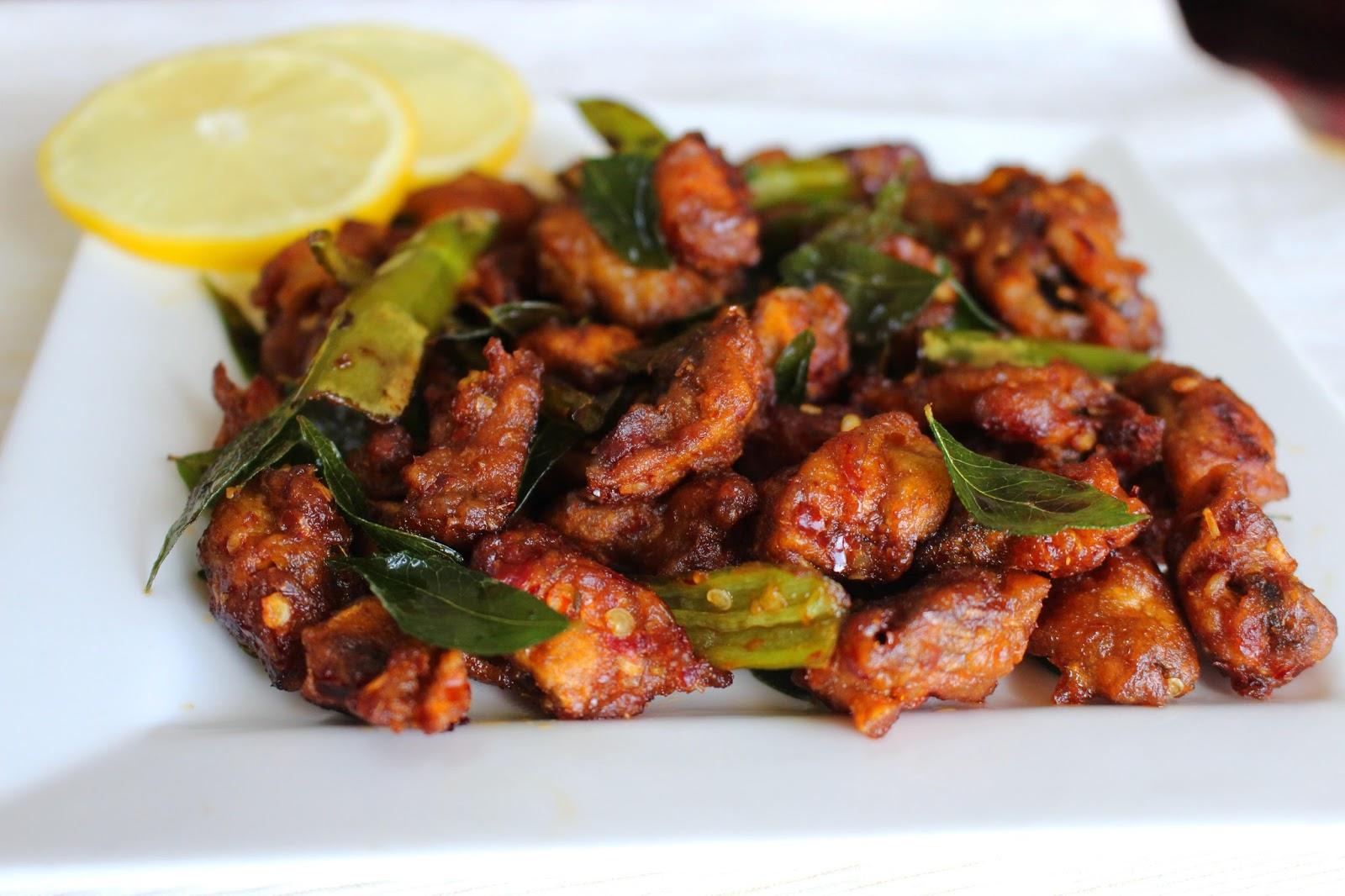 Chilli Mushroom Dry Easy Vegetable Side Dishes