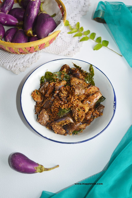 Brinjal Podi Curry Recipe | Katharikai Podi Curry