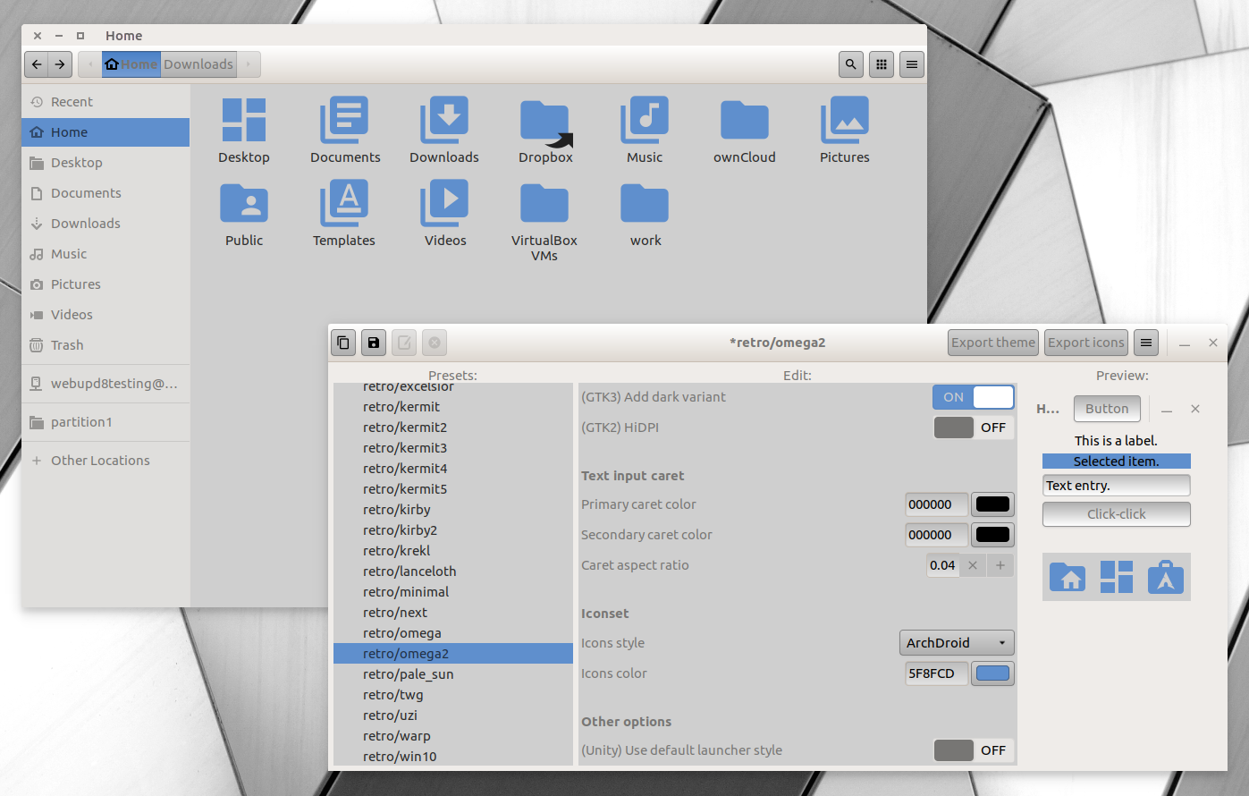 Numix-Based GTK Theme Generator Tool Oomox 1 2 0 Released With