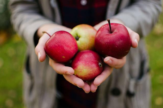 التفاح مع بذور الكتان و الشيا
