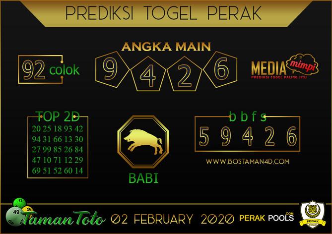 Prediksi Togel PERAK TAMAN TOTO 02 FEBRUARY 2020