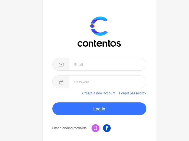Đăng ký tài khoản contentos