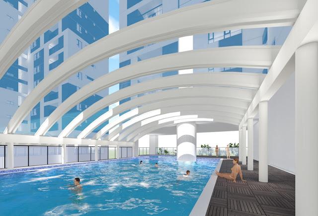Bể bơi bốn mùa bên trong dự án