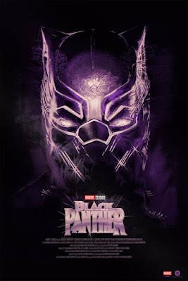 Black Panther Movie Poster Screen Print by Fernando Reza x Bottleneck Gallery x Marvel
