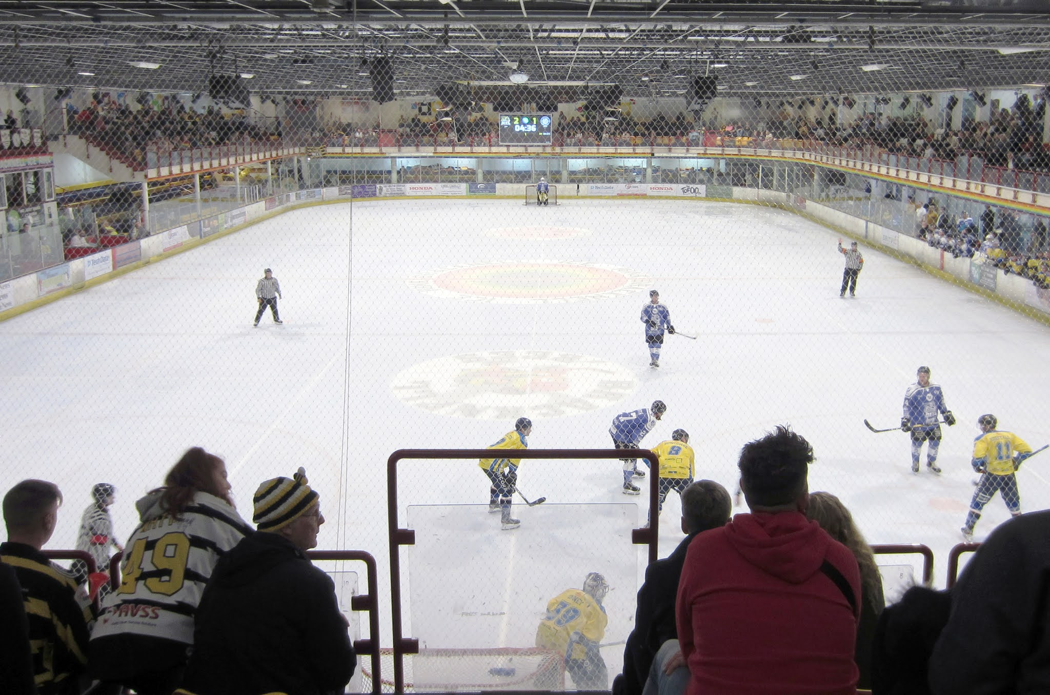 View from the upper tier at Bracknell Ice Rink