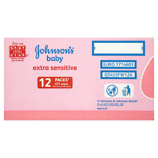 safe for baby's skin, Johnson's Baby Extra Sensitive Wipes, (672 Wipes) DEAL TODAY £8,00