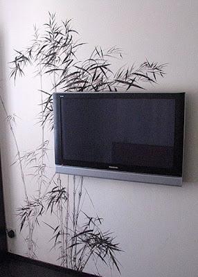 Роспись стен в квартире и 3D обои.
