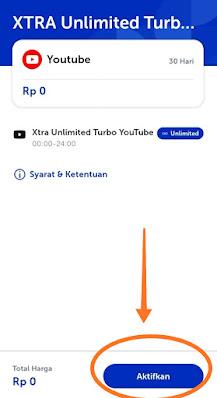 Cara klaim unlimited youtube xl