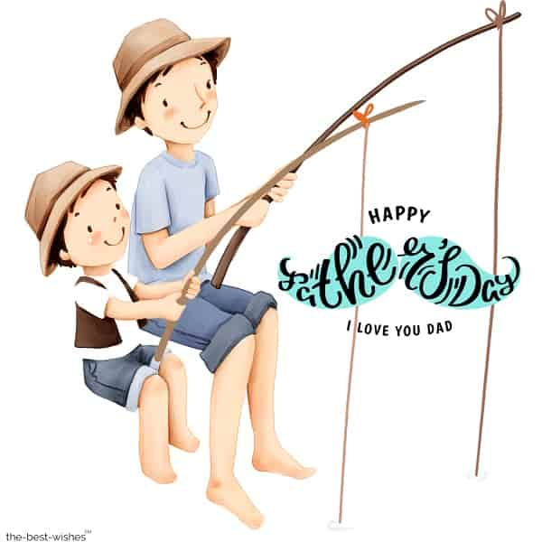 cute father day image