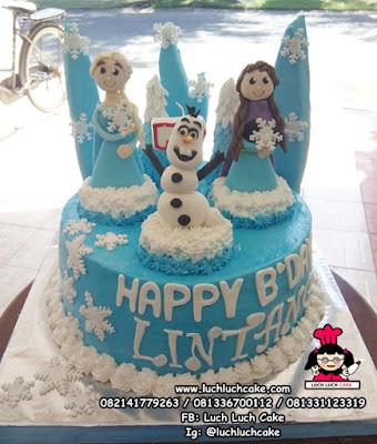 Kue Tart Ulang Tahun Frozen Surabaya - Sidoarjo - Gresik