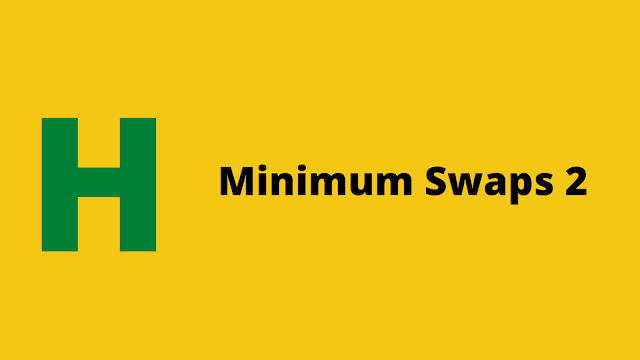 HackerRank Minimum Swaps 2 Interview preparation kit solution