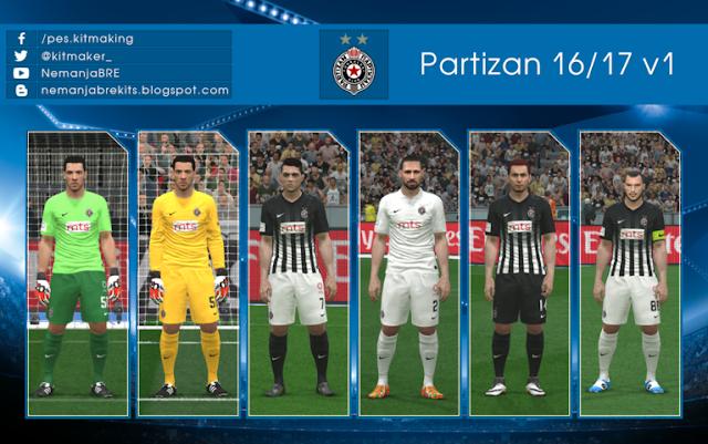 PES 2016 Partizan Kit 2016-2017