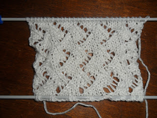 Crosshatch stitch pattern