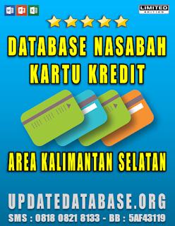 Jual Database Nasabah Kartu Kredit Kalimantan Selatan