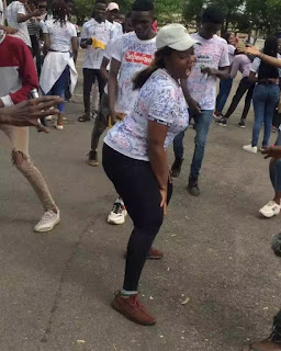 Video: UNILORIN Student Dances 'Soapy' By Naira Marley After Her Final Exam, Signs Out In Style 2