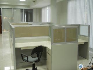 Kontraktor Interior - Meja Staff cubicle workstation meja sekat