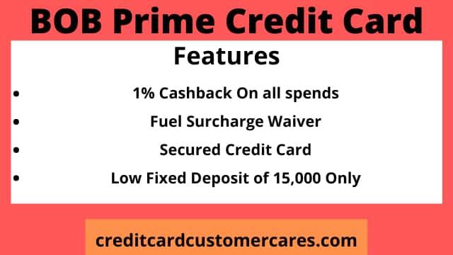 BOB Prime Credit Card