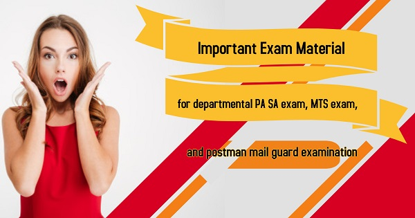 Important Exam Material for LDCE PA SA, MTS and Postman Mail Gurad Exam