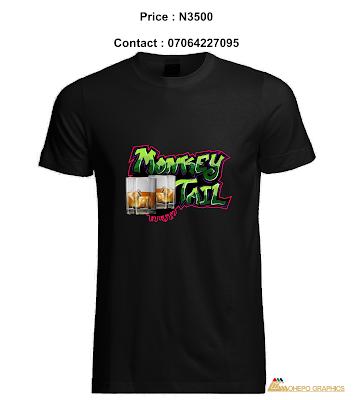 Monkey Tail Graffiti Shirt (Black)