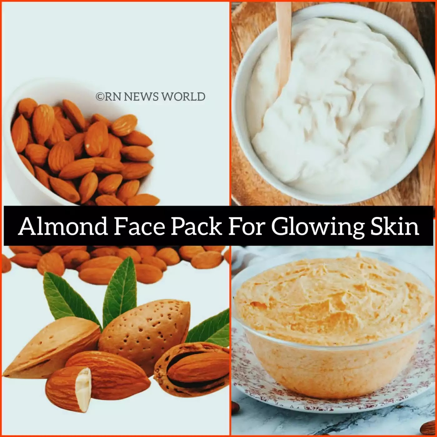 almond face pack for skin whitening, Almond Face Pack