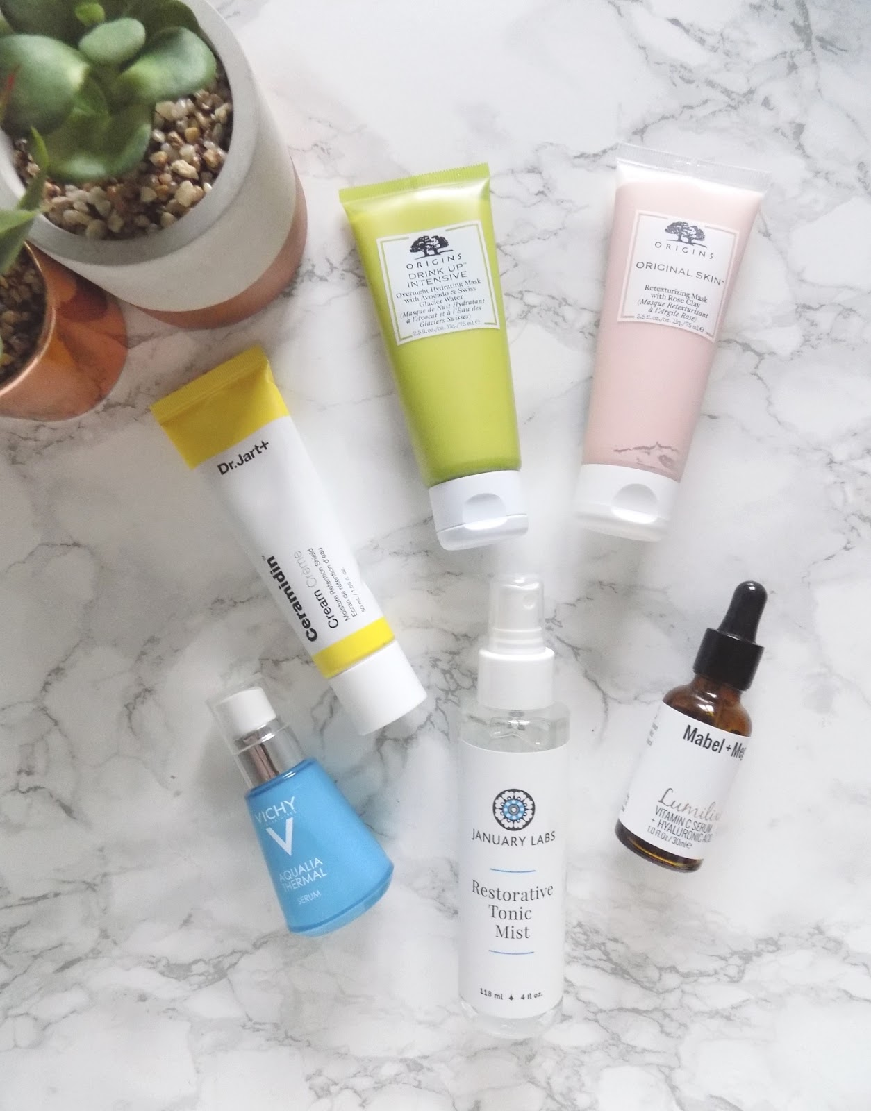 skincare essentials dr jart origins vichy january labs mabel and meg