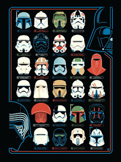 "Star Wars ""Helmets"" Screen Print by Dave Perillo x Dark Ink Art"