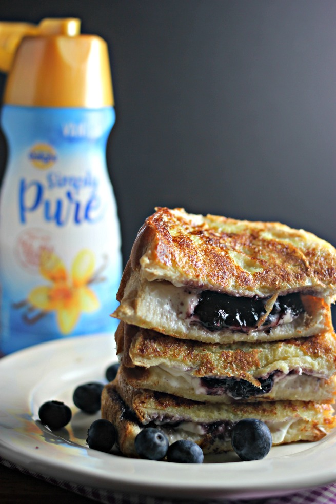 Scrumptious Blueberry Cream Cheese Stuffed French Toast recipe
