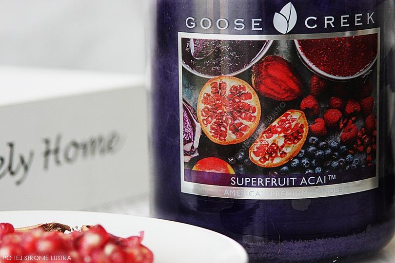 świeca zapachowa goose creek superfruit acai