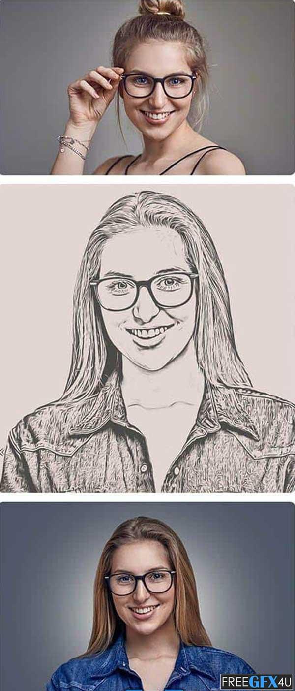 Smooth Pencil Sketch Photoshop Action
