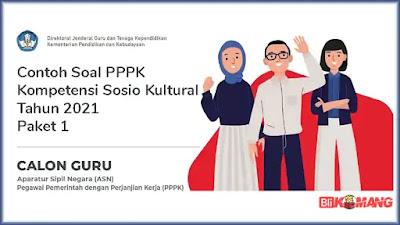 Contoh Soal PPPK Kompetensi Sosio Kultural Tahun 2021 Paket 1