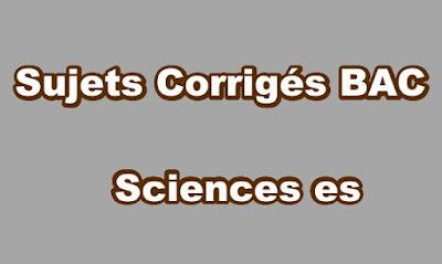 Sujets Corrigés BAC Sciences ES