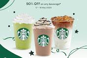 Promo Starbuks Anniversary Treat Diskon 50% Semua Minuman Berlaku 17 - 23 Mei 2020