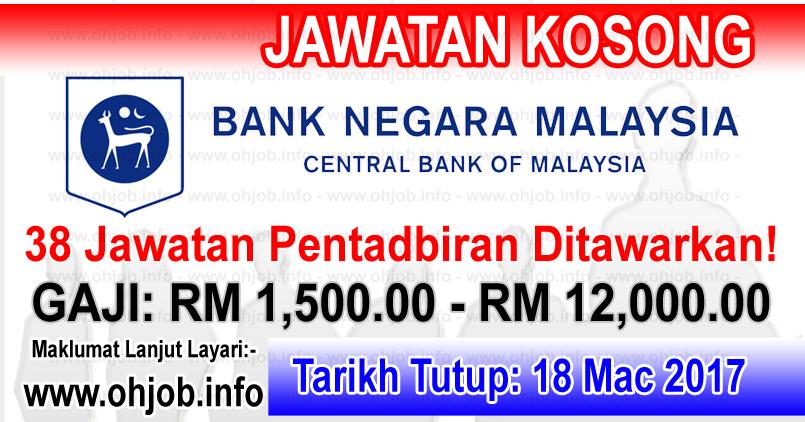 Jawatan Kosong BNM - Bank Negara Malaysia (18 Mac 2017 ...