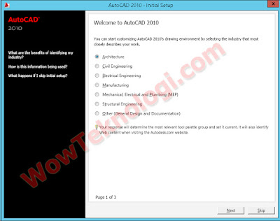 Cara Menginstall  / Pasang Aplikasi AutoCad 2010