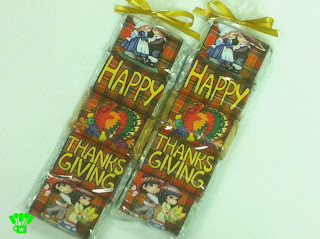 Hershey Miniature Thanksgiving Candy Bar Wrappers