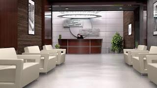 Curved Reception Desk