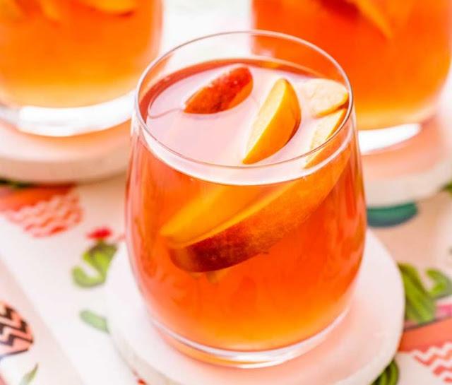 Peach Sangria #drinks #cocktails