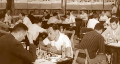 Albareda y Anguera en el Campeonato de España de ajedrez por equipos 1964