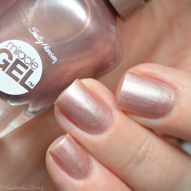 frosty pink matte nail polish