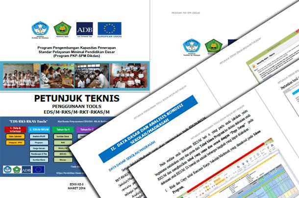 Aplikasi dan Juknis Tools EDS/M-RKS/M-RKT-RKAS/M (Evaluasi Diri Sekolah/Madrasah, Rencana Kerja Tahunan, Rencana Kerja dan Anggaran Sekolah/Madrasah)