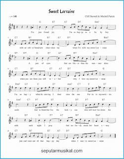 chord sweet lorraine lagu jazz standar