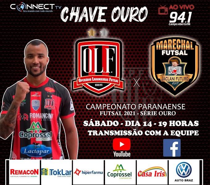 É daqui pouco a partir das 19 horas: Operário Laranjeiras x Marechal Futsal