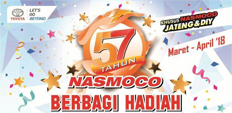Ulang Tahun ke-57, Beli Mobil di Nasmoco Toyota Jogja Berhadiah Mobil