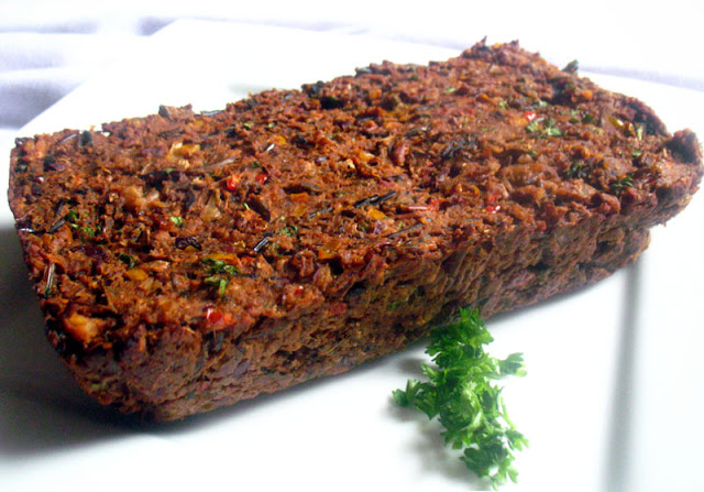 Wild Rice and Kidney Bean Vegan Loaf