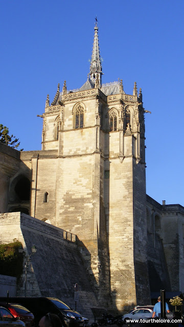 Chapel of Saint Hubert at the Chateau Royal d'Amboise.  Indre et Loire, France. Photographed by Susan Walter. Tour the Loire Valley with a classic car and a private guide.