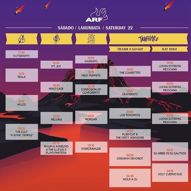 azkena, rock, festival, vitoria, horarios, wilco, mendizabala, stray cats, 2019, sábado, junio